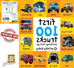 Toddler Learning Book First 100 Trucks Board Toy Early Educa