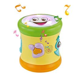 Fisca Two-Sided Musical Drum Learning Toy for Baby Toddler 1