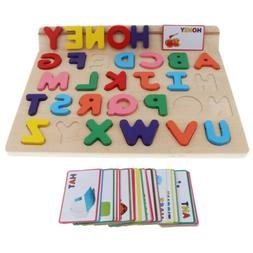 Wooden Alphabet Toddler Puzzles Toys For 2 To 3 Year Olds Le