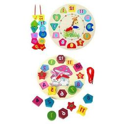 Wooden Clock Educational Learning Sorting Clock Puzzle Play
