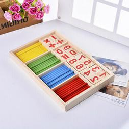 Wooden Montessori Mathematics Material Early Learning Counti